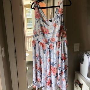 Torrid floral flowy mini dress